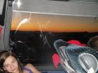 Sonnenaufgang auf dem Weg nach Rom ... langsam erwachen alle wieder ...