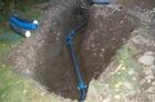Die neue Wasserleitung entsteht